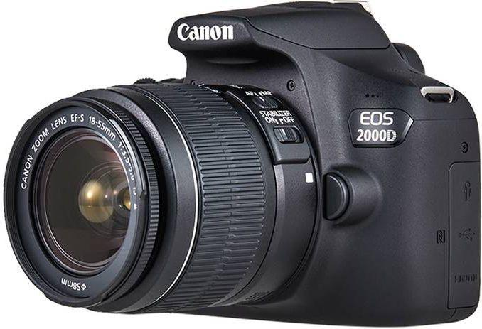 Lustrzanka Canon EOS 2000D + obiektyw EF-S 18-55 IS II (2728C003AA) 2728C003AA Spoguļkamera SLR