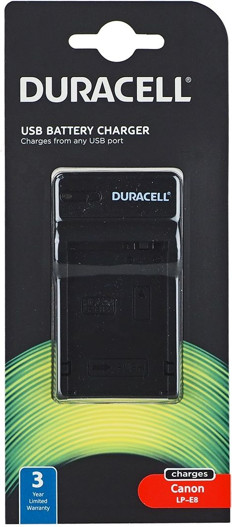 Duracell Charger with USB Cable for LP-E8