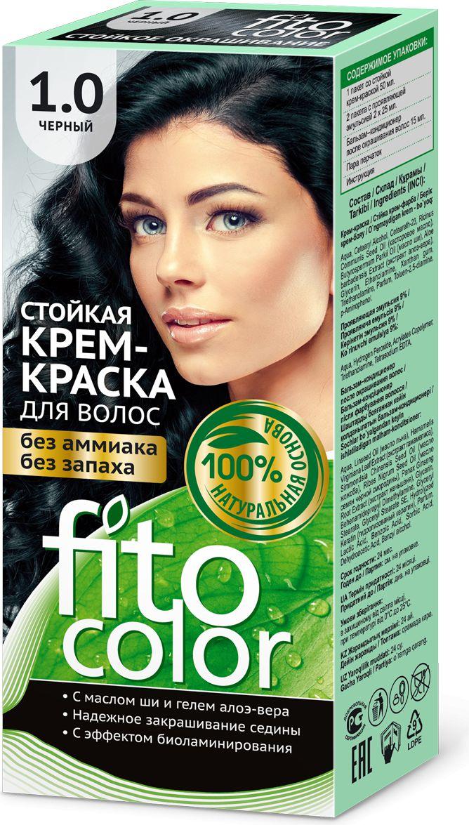 Fitocosmetics Fitocolor Farba-krem do wlosow nr 1.0 czarny  1op. 3022327