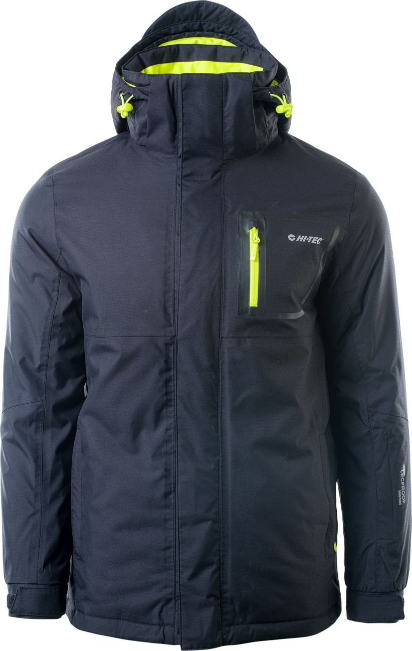 Hi-tec Men's ski jacket Nanuk Black / Yellow Green r. M