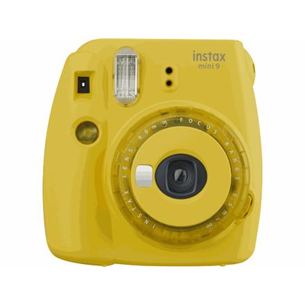 Fujifilm Instax Mini 9 camera + Instax mini glossy (10) Clear Yellow, 0.6m - ∞ INSTAX 9 CLEAR YELLOW +10 Digitālā kamera
