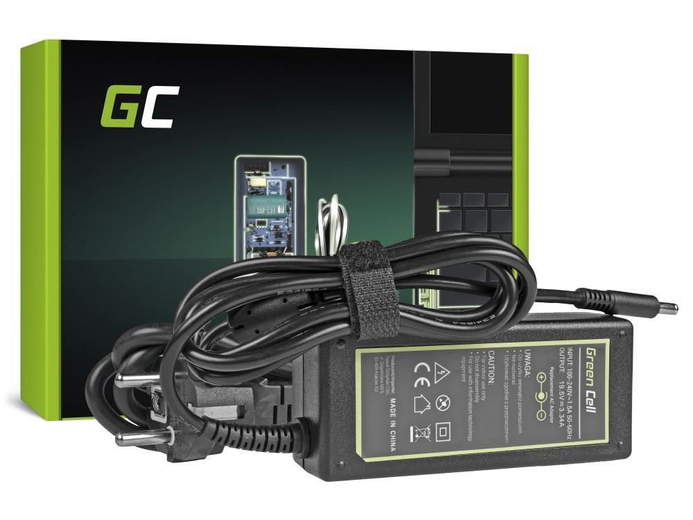 Green Cell for Dell Inspiron 15 3543 3555 17 5758 65W/19V/3.42A/4.5mm-3.0mm with pin portatīvo datoru lādētājs
