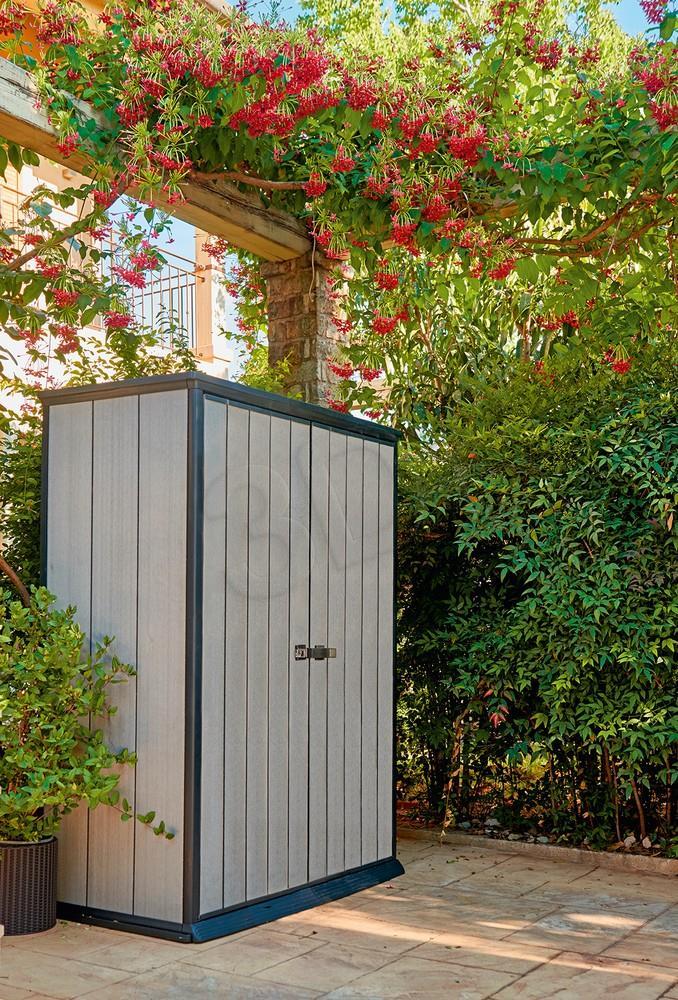 Garden wardrobe Curver Keter HIGH STORE gray-brown Dārza mēbeles