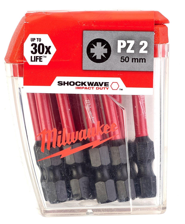 Milwaukee Bit PZ2 x 50mm Shockwave 10szt. (4932430866)