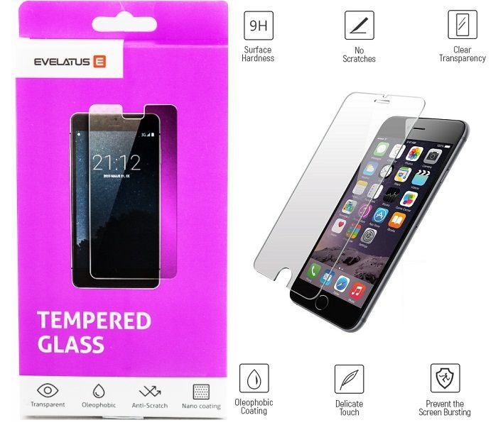 Evelatus Apple iPhone 6 Plus / 7 Plus / 8 Plus Tempered glass aizsardzība ekrānam mobilajiem telefoniem