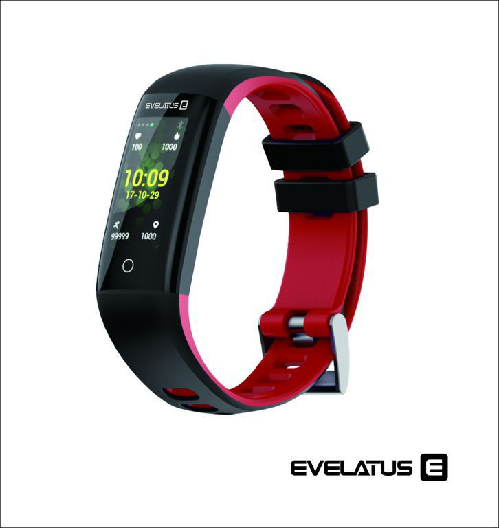 Evelatus Fitness Tracker EFT02 Black Red Viedais pulkstenis, smartwatch