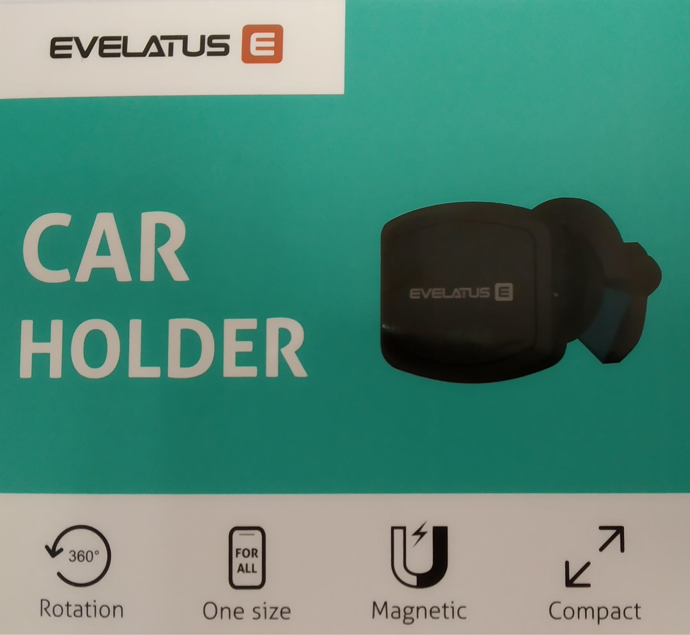 Evelatus Evelatus Magnetic Car Holder ECH02 Black Mobilo telefonu turētāji