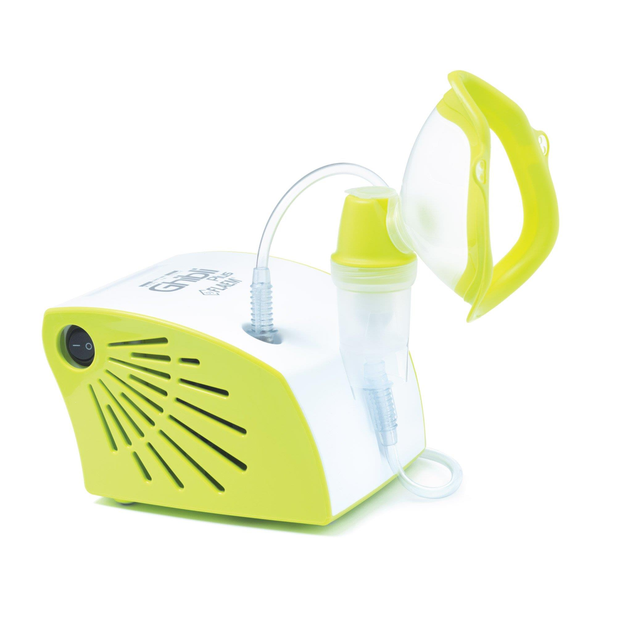 Inhaler pneumatic piston FLAEM Nuova Ghibli Plus Kid (lime color) UISFLMINH0002 inhalators
