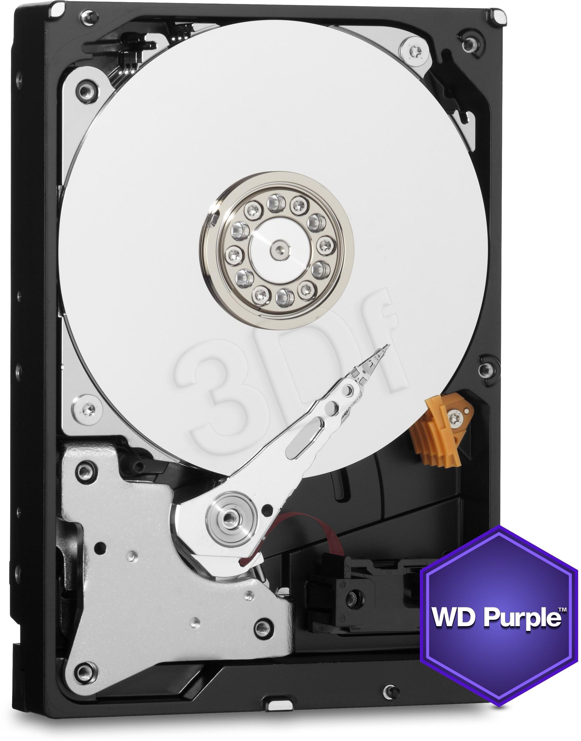 Internal HDD WD Purple 3.5'' 1TB SATA3 64MB cache cietais disks