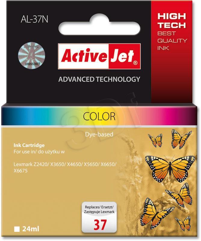 Ink cartridge Activejet AL-37N (replacement Lexmark 37XL 18C2180E; Supreme; 24 ml; MultiColor) AL-37N