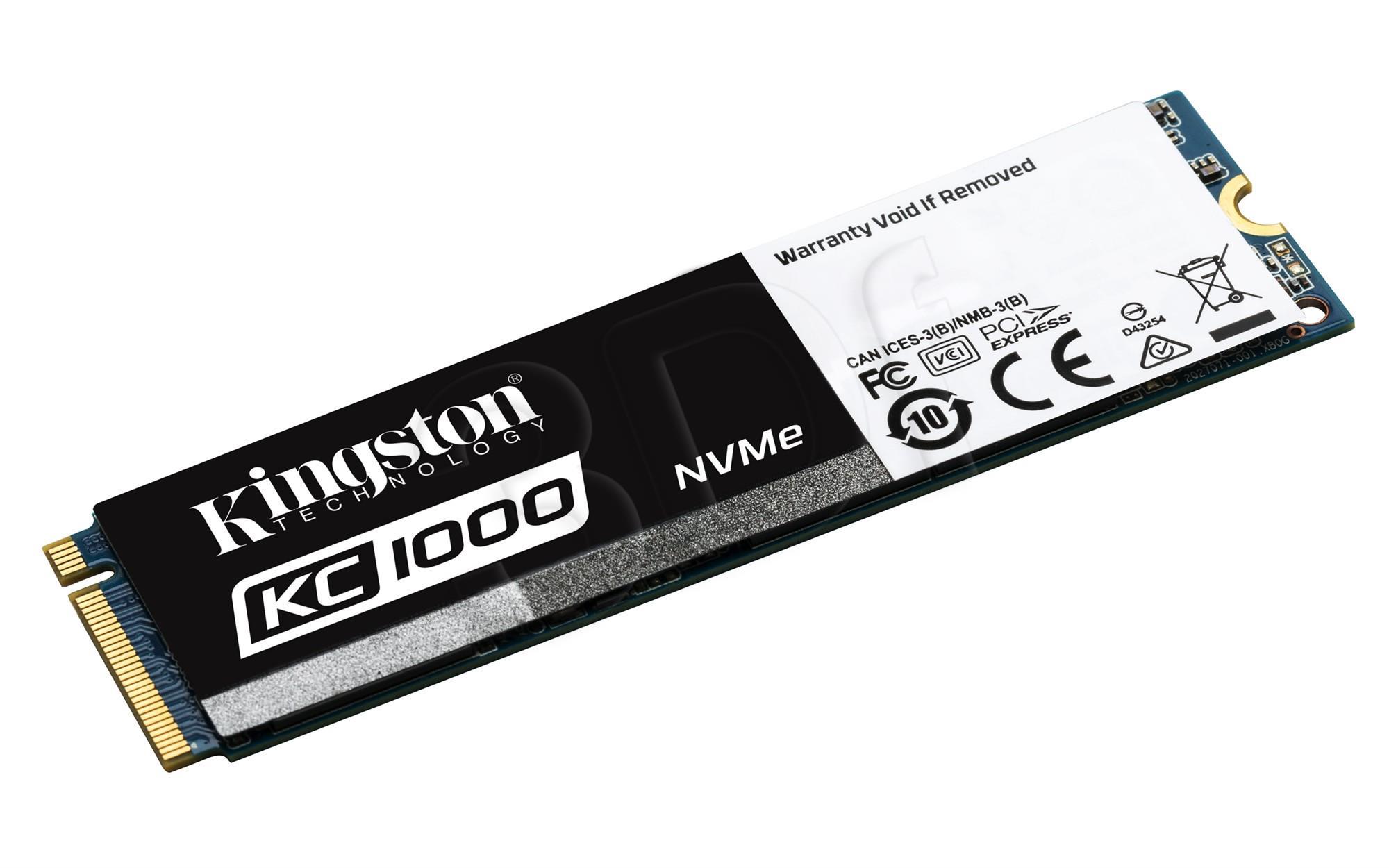 KINGSTON 480GB KC1000 PCIe Gen3 x4 NVMe SSD disks