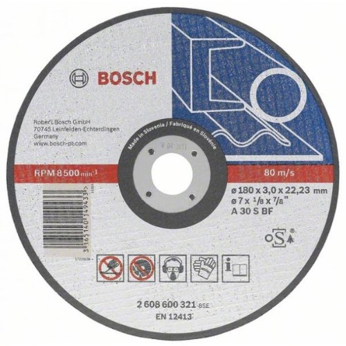 Bosch Cutting disc straight 180mm