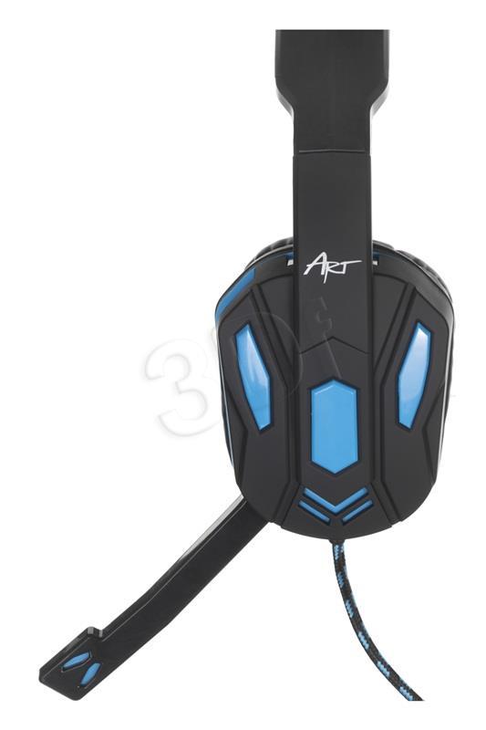 Headset nauszne ar mikrofonu ART X1 (czarno-blue)