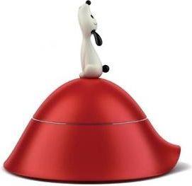 Alessi Miska dla psa polerowana stal nierdzewna/termoplastik czerwona (8003299958429) AMMI19 R piederumi kaķiem