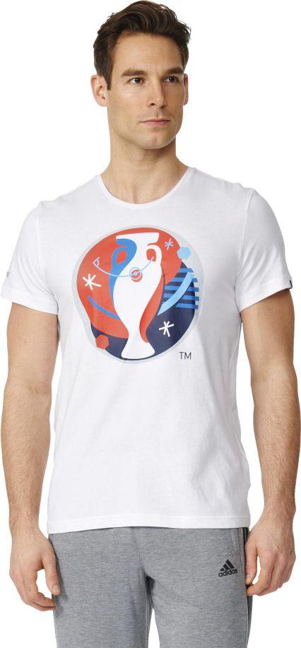Adidas Koszulka meska Euro Logo bialy r. S (AI5606) AI5606