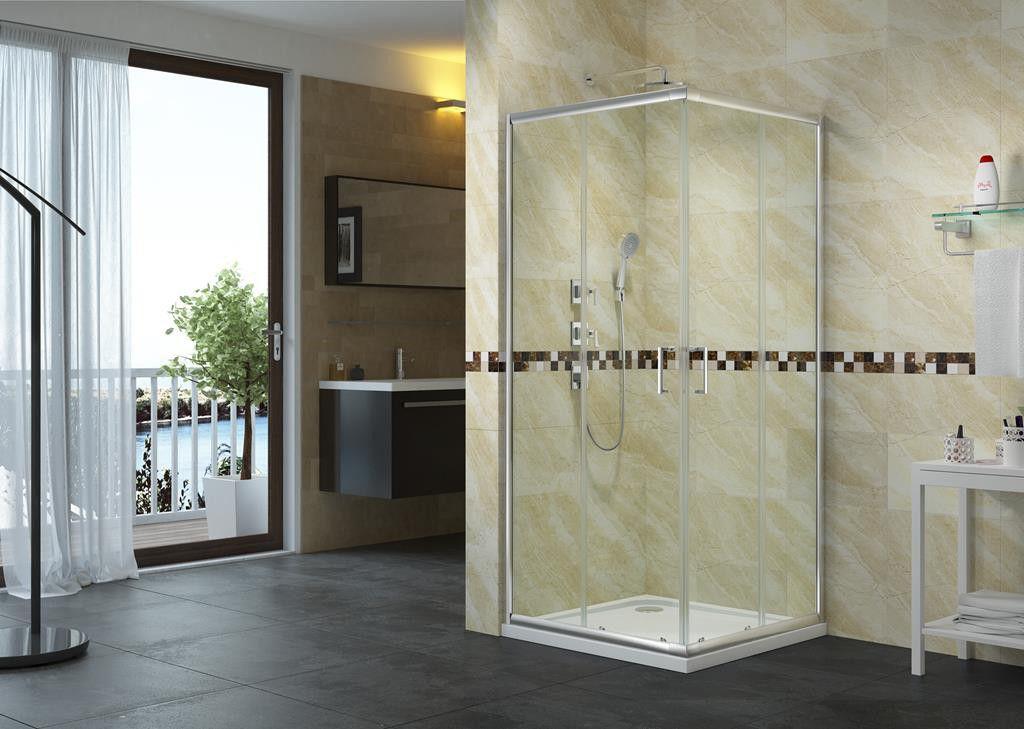 AQUA BATOS Kabina prysznicowa narozna szklo przejrzyste AMBER 90x90 (ACD901) ACD901