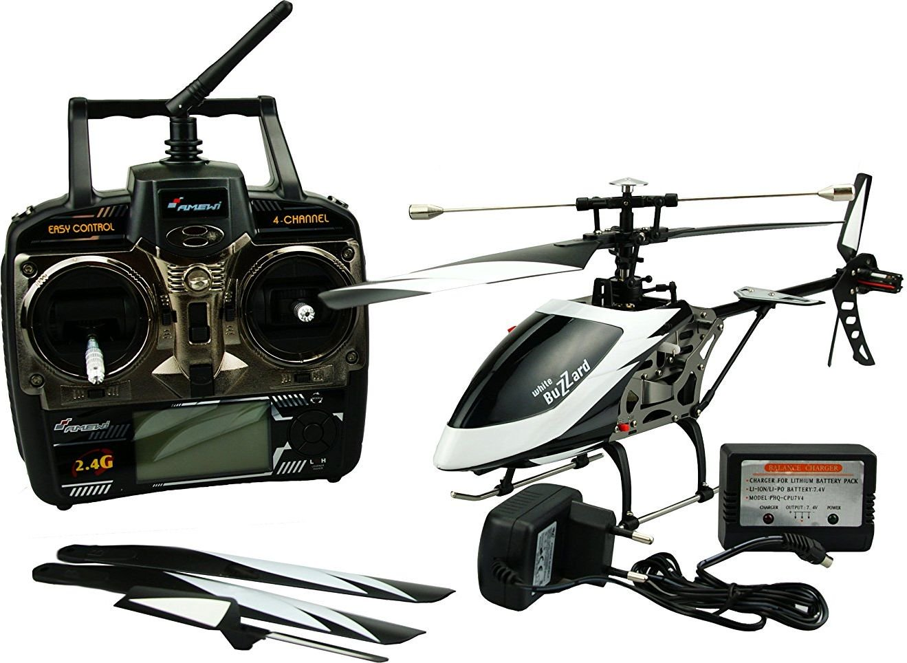 AMEWI Helikopter RC z pilotem LCD (25137) 25137
