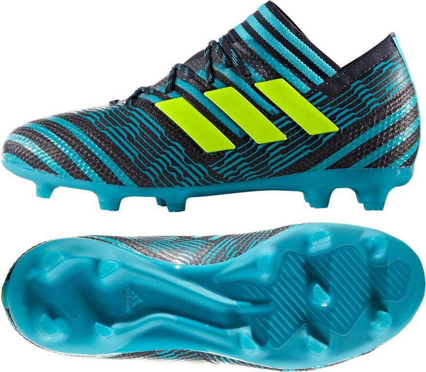 Adidas Buty pilkarskie Nemeziz 17.1 FG Junior niebiesko-czarne r. 38 2/3 (S82418) S82418