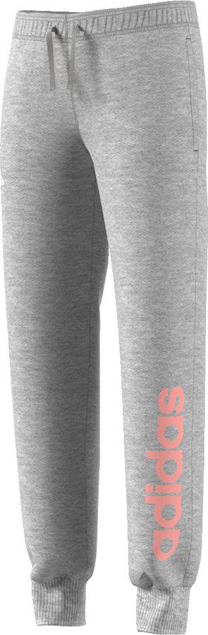 Adidas Spodnie juniorskie  Yg Linear Pant szare r. 140 cm (BP8595) BP8595
