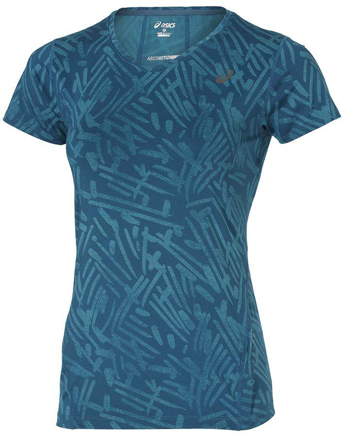 Asics Koszulka Allover Graphic Top SS niebieska r. M (121645 0131) 121645 0131