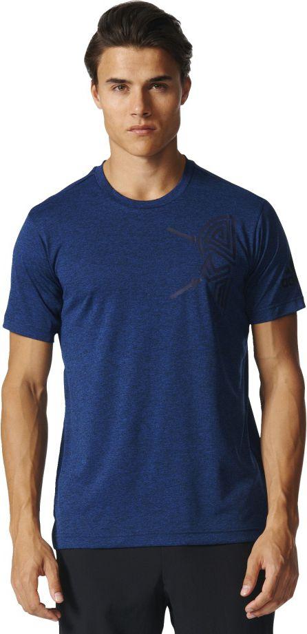Adidas Koszulka meska Free Lift Tee Tri Color granatowa r. S (BK6085) BK6085