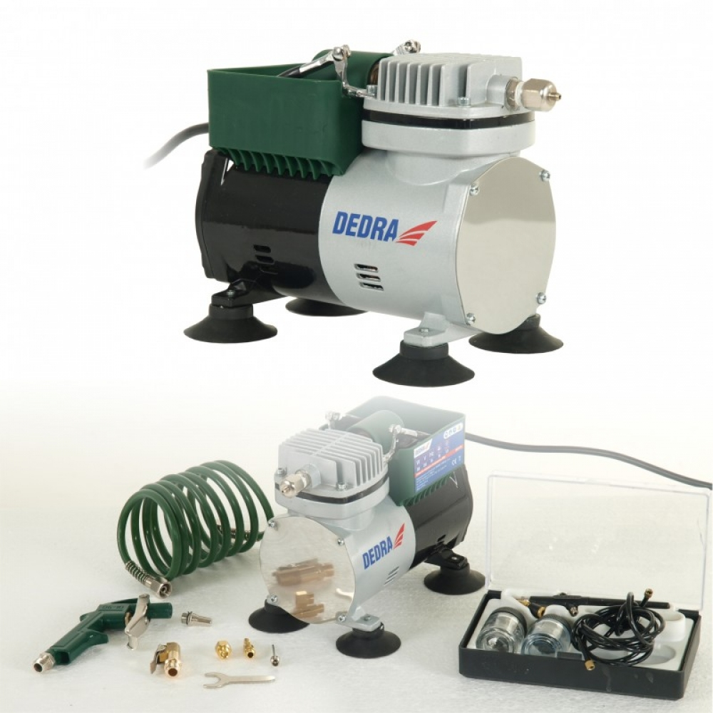 Dedra Mini compressor 300W + airbrush set (DED7470)