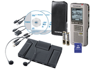 Olympus DS-2500 Silver Pro Dictation & Transcription Kit diktafons