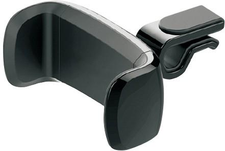Omega telefona auto turētājs stiprināšanai pie ventilācijas restes Strawberry, melns 43483) 5907595434836 Mobilo telefonu turētāji