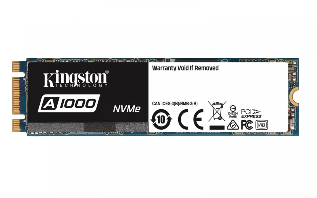 Kingston A1000 NVMe M.2 SSD, PCIe M.2 Typ 2280 - 240 GB SSD disks