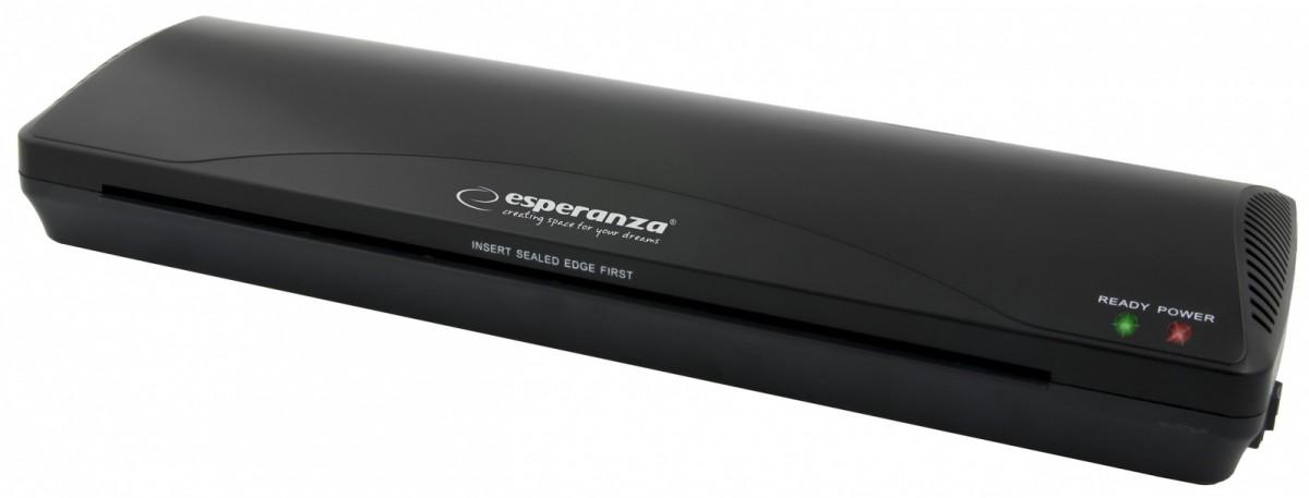 ESPERANZA EFL003 AEON - LAMINATOR A3 - BLACK  (Included: 5 x A3 foils) laminators