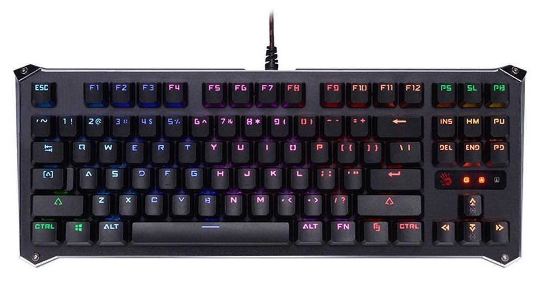 Gaming Mechanical Keyboard A4TECH BLOODY B930 RGB (LK LIBRA BROWN SWITCH) klaviatūra