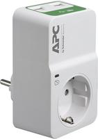 APC Essential SurgeArrest PM1WU2 1 Outlet 230V 2 Port USB Charger elektrības pagarinātājs