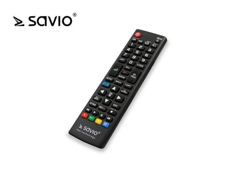 Savio RC-05 Universāla LG TV Pults Melns pults