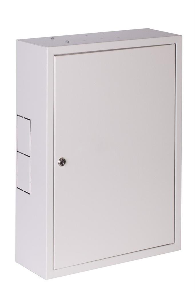 Netrack wall-mounted cabinet, 19'', 3U/400mm - grey, metal door Serveru aksesuāri