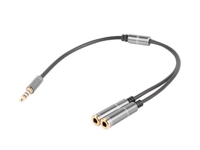 Natec Genesis premium 4-PIN headset adapter for PS4, PC, smartphones kabelis, vads