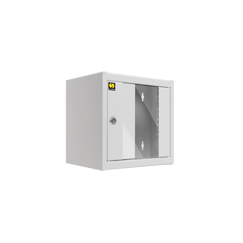 Netrack wall-mounted cabinet, 10'', 4.5U/300 mm, grey, glass door Serveru aksesuāri