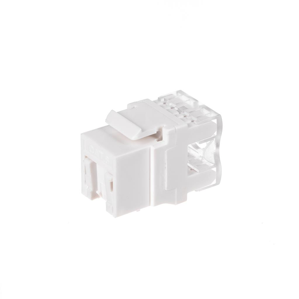 Netrack Keystone Jack module 1xRJ45 8p8c UTP Cat6 with clamp,dust cover, white Serveru aksesuāri