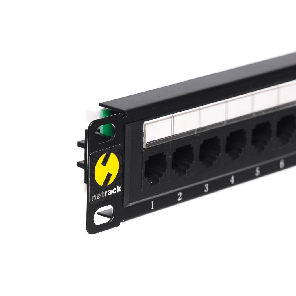 Netrack patchpanel 10'', 12 - ports cat. 5e UTP LSA, without bracket Serveru aksesuāri