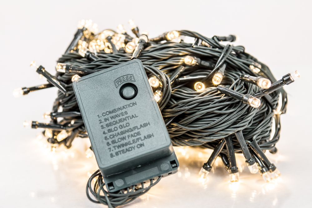 N/A Ziemassvētku lampiņu virtene 300LED RS-113 20m.  Warm White