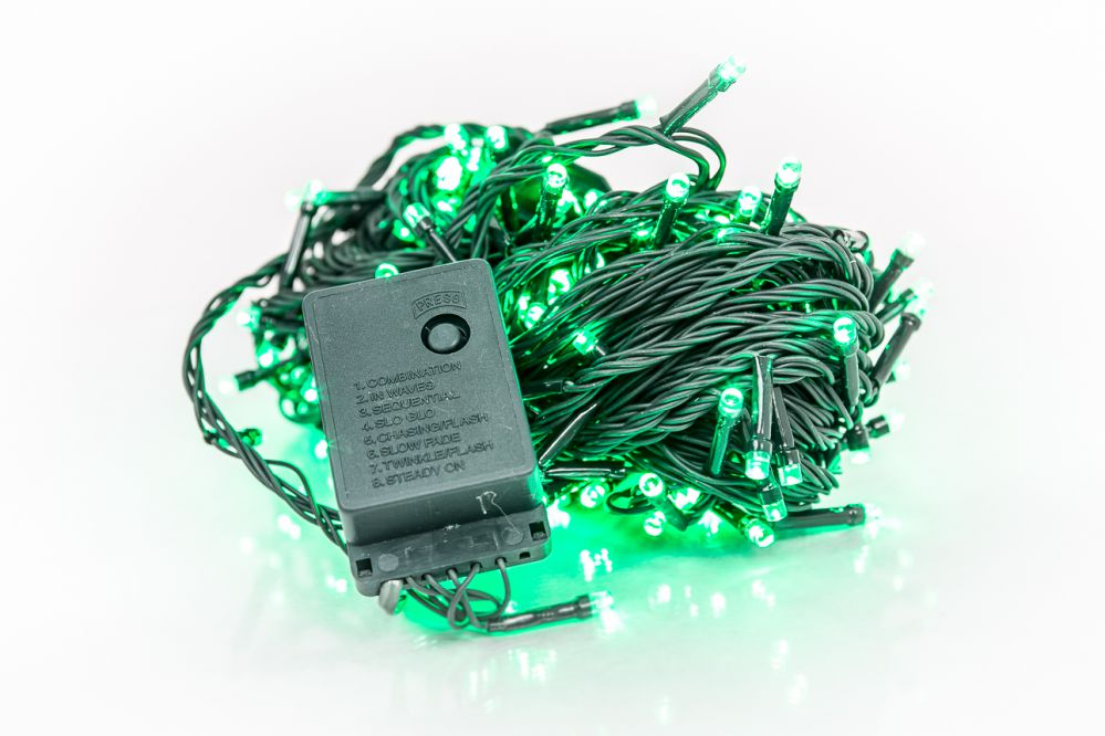 KL LED Christmas Lights RS-111 7m. 100LED  Green 5202
