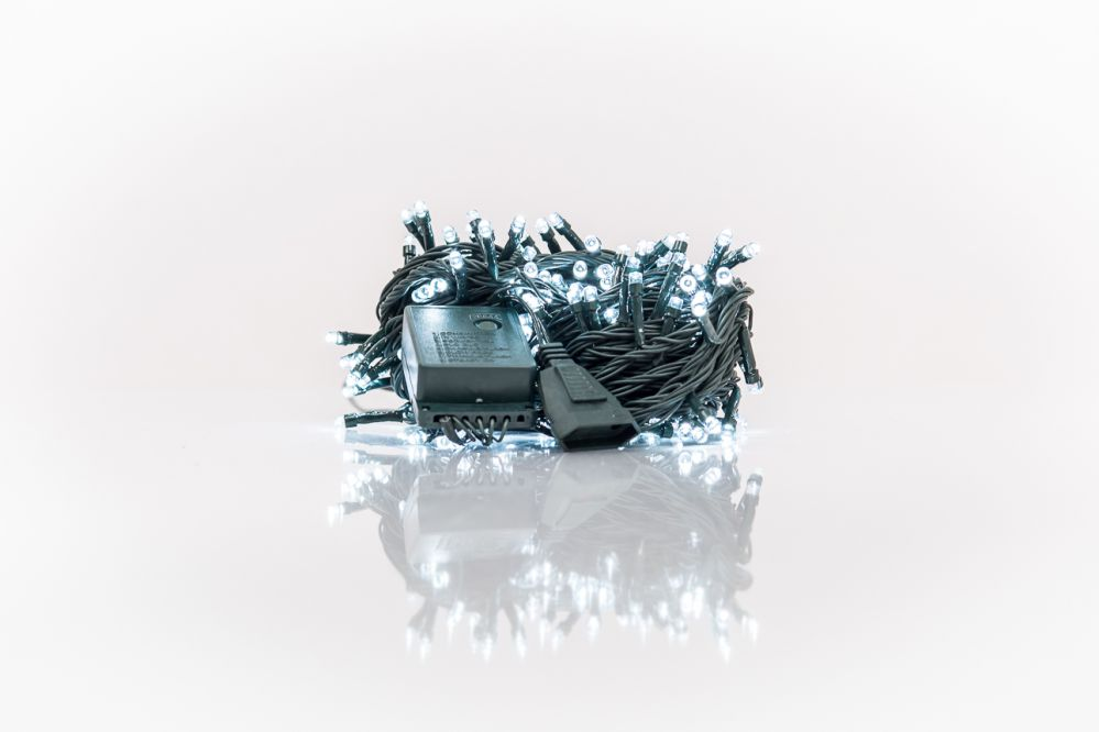 KL LED Christmas Lights 200LED RS-112 14m.  White 5209