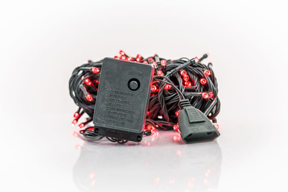 N/A Ziemassvētku lampiņu virtene 100LED RS-111 7m.  Red 5193