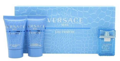 Versace Man Eau Fraiche Edt 5ml + 25ml Shower gel + 25ml After shave balm 5ml Vīriešu Smaržas