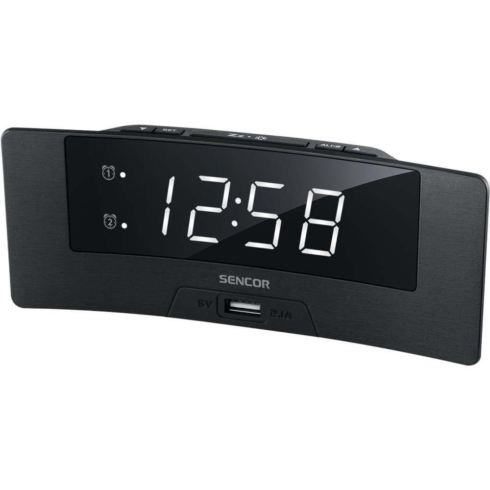 Modinātājpulkstenis, digitāls Sencor SDC 4912 WH radio, radiopulksteņi