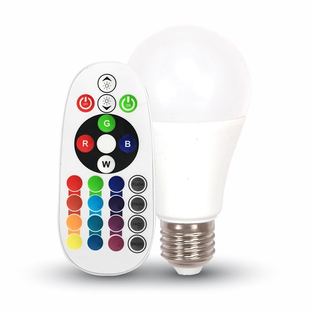 V-tac LED Bulb VT-2022 6W E27 A60 RGB with remote control apgaismes ķermenis