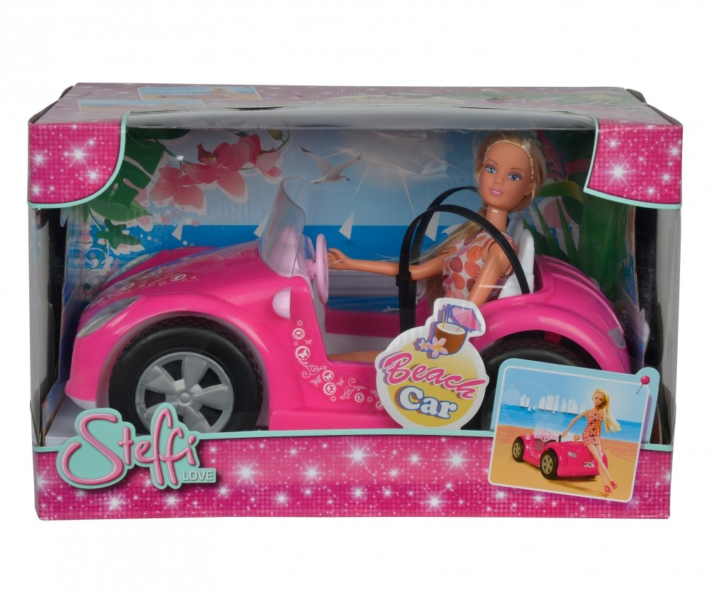 Simba Doll Steffi in summer car bērnu rotaļlieta