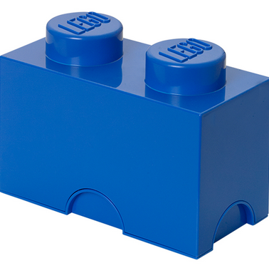 Box brick LEGO with 2 edging (Bright Blue) LEGO konstruktors
