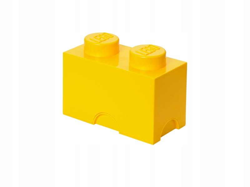 Box brick LEGO with 2 edging (Bright Yellow) LEGO konstruktors