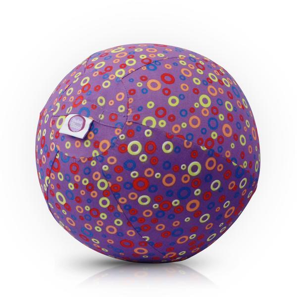 Bubabloon lateksa balons ar auduma pārvalku, Circles Purple 040376