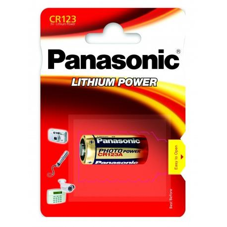 Panasonic Lithium Power Lithium Battery CR123A, 1 pc, Blister Baterija
